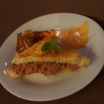 grilled pork rillettes and peach sandwich from Chef Michael Ginor of Hudson Valley Fois Gras and Lola New York.
