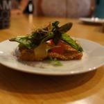 "Chef Vartan Abgaryan of Cliff's Edge describes his dish simply as ""Crispy pork, watermelon, crispy rice, barrel-aged fish sauce, lime and herbs."""