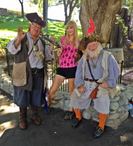 My pistol is aimed in the Pirate themed area of the L.A. County Fair (photo by Candy Lynn)