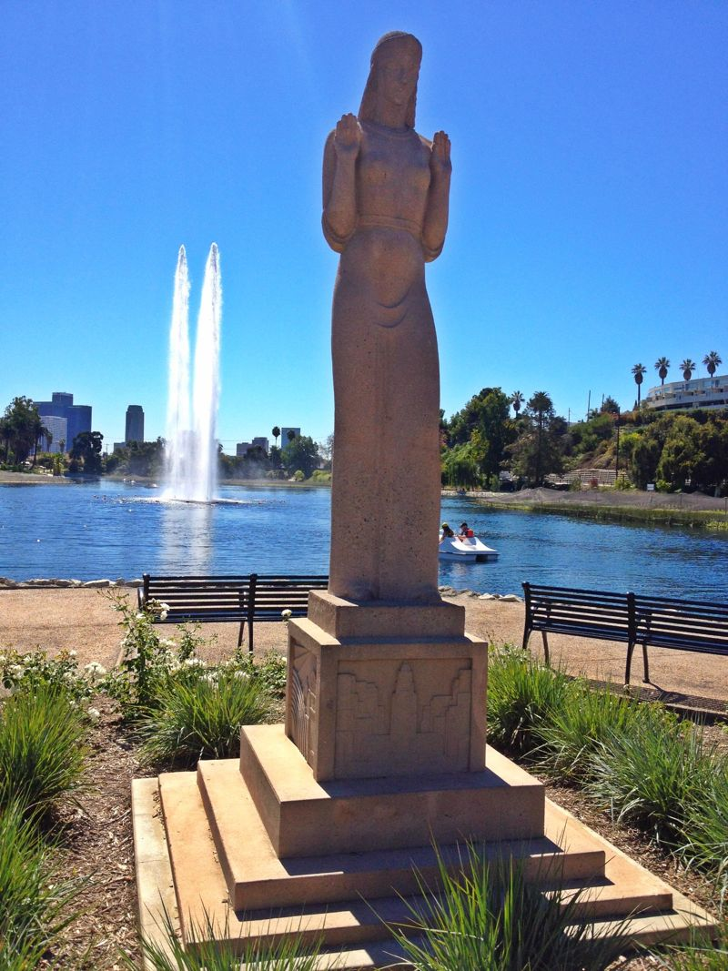 Echo Park Lake (photo by Nikki Kreuzer)
