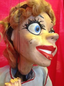 Alice in Wonderland Puppet at the international Puppetry Museum (photo by Nikki Kreuzer)