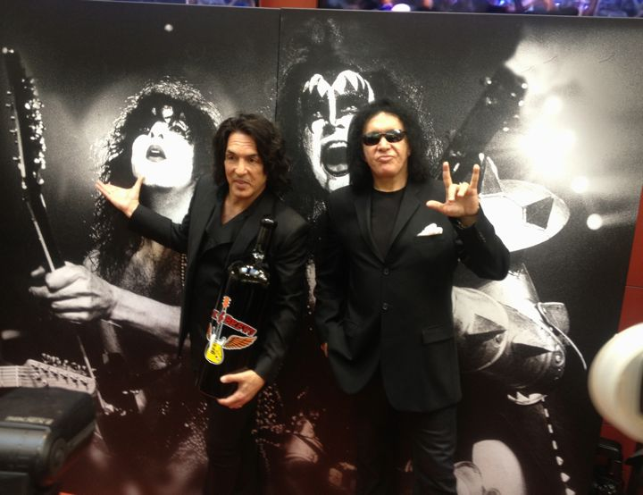 Gene Simmons and Paul Stanley at the opening of their LAX brew pub Rock & Brews (photo by Nikki Kreuzer)