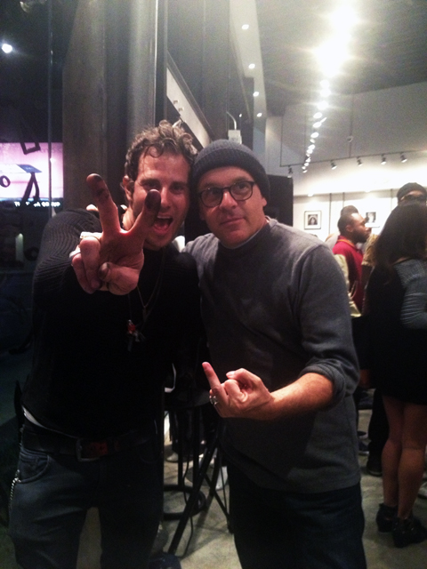 Artists Gregory Siff and Louis Cannizzaro. Photo: Michelle Nati