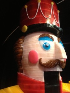 A giant ice Nutcracker. His mouth is a doorway (photo by Nikki Kreuzer)