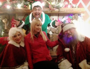 The author visits Santa house (photo by Vitta Quinn)