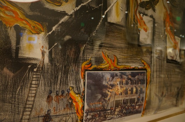 Currier & Ives as Interpreted by Salvador Dali:Fire! Fire! Fire!,   1971,  Salvador DALI,  Color lithograph on arches paper
