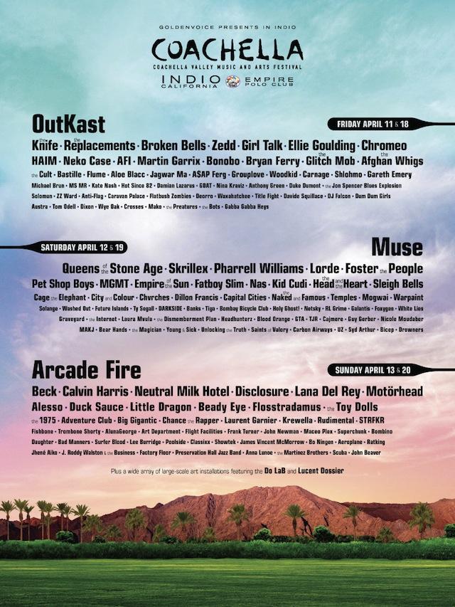 Coachella 2014 Lineup Announced