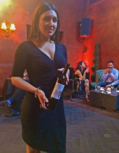 One of the hosts of the wine part of the evening (photo by Nikki Kreuzer)