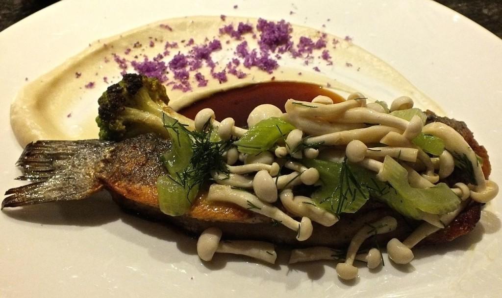 Branzino, the Chef's Signature dish, a tasty Mediterranean fish
