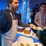 Jon Shook serves Grilled Boniato, Mushroom Ragu, Creme Fraiche and Green Goddess Dressing