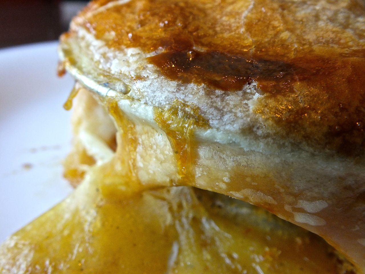 Crisp, flaky crust tops the Fallbrook Cafe's delicious Chciken Pot Pie. Photo by Edward Simon for the Los Angeles Beat