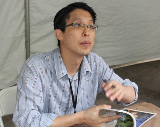 """Gene Yang, author of """"Boxers and Saints""""."""