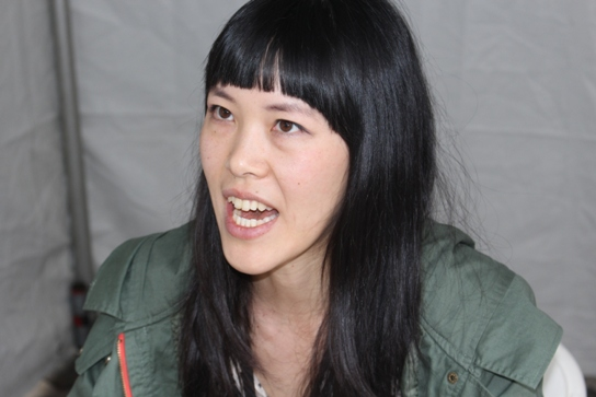 "Jen Wang, author of ""Koko be Good""."