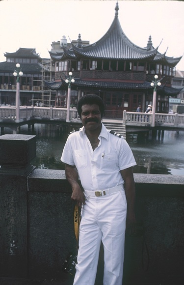 Shooting The Love Boat in China--Photo Courtesy of Ted Lange's Personal Collection