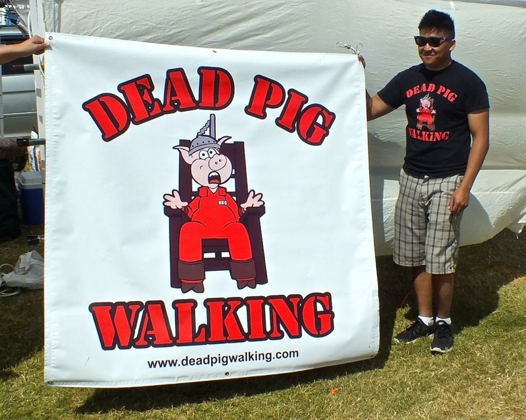 eEad Pig Walking BBQ Team is ready to cook. Photo by Edward Simon for the Los Angeles Beat.