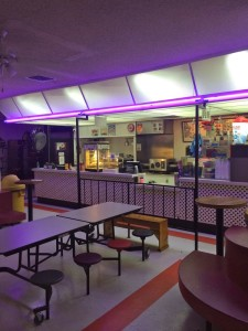 The very mid-century snack bar at Moonlight Rollerway (photo by Nikki Kreuzer)