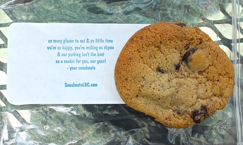 Kelli's Chcoclate Chip Cookie, a sweet with a message