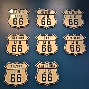 Route 66 stretched across these states (photo by Nikki Kreuzer)