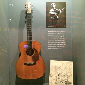 Woody Guthrie's guitar (photo by Nikki Kreuzer)