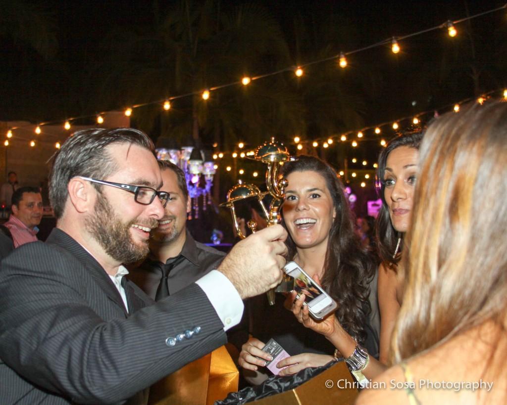 Enjoying wine at the Golden Foodie Awards. Photo courtesy of the Golden Foodie Awards.