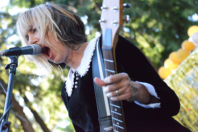 Kim Shattuck of The Muffs (Photo credit: Cat Rose/There's Something Hard in There. Used with permission).