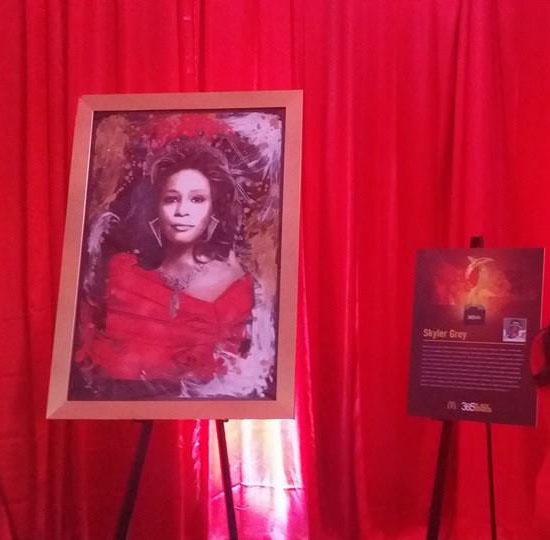 Skyler's Queen Whitney also premiered at the 365Black® Awards. (Photo courtesy Skyler Grey)