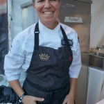 Elizabeth Falkner from NYC presented a Steak Tartar with Brown Butter Bernaise and Potato Krispies
