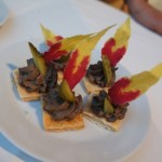 Elia Aboumrad of GORGE Hollywood's chicken liver toasts and duck rilletes