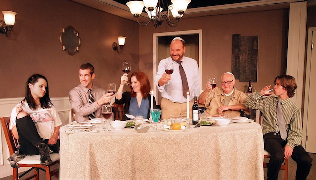 Julia Arian (Rachel), Tom Berklund (Patrick), Stacey Moseley (Christina), Chip Bolcik (Barry), Paul Zegler (Sol), and Aidan Blain (Mose)