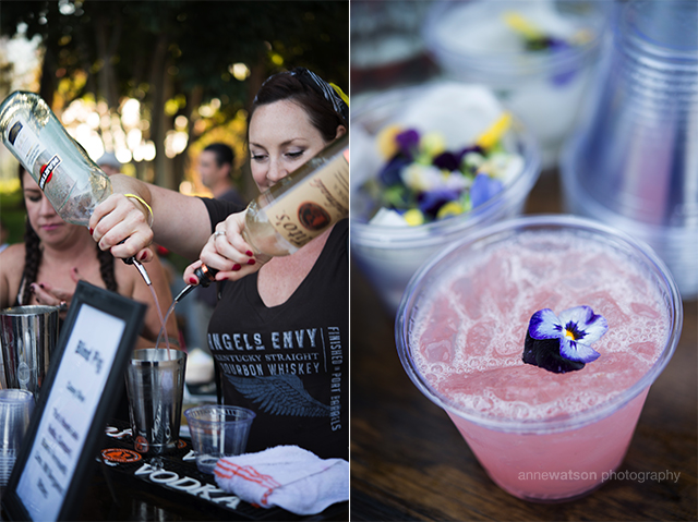 Mixing drinks at PigOut 2.0.  Photo courtesy of Ann Watson Photography.