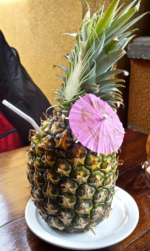 Pina colada at the Lahaina Grill on Maui. Photo by Edward Simon for The Los Angeles Beat.