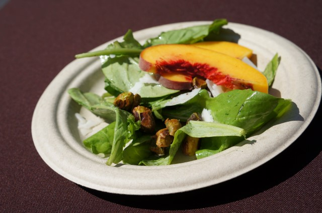 Reiger Farms Peach Salad from Akasha