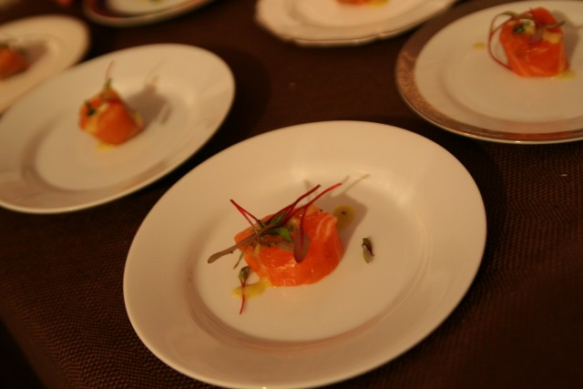 Salmon by Mark Peel at LAFW Grand Tasting Sunday (Elise Thompson)