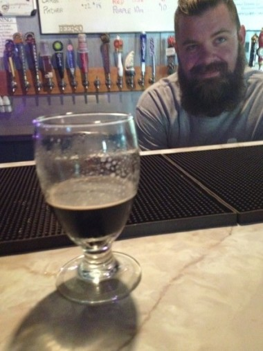 Photo of Matt by Elise Thompson. Sorry there is not a full glass, but they just don't last that long