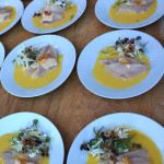 Ricardo Zarate of Spicca, Mo-Chica and Paiche created a Yellowtail Tiradito