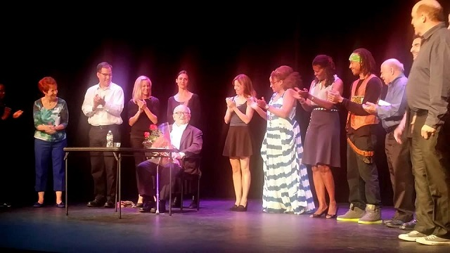 """Ed Asner's Unforgettable Performance in First Stage's, """"It's Theatre Darling""""--Photo by Jennifer K. Hugus for The Los Angeles Beat"""