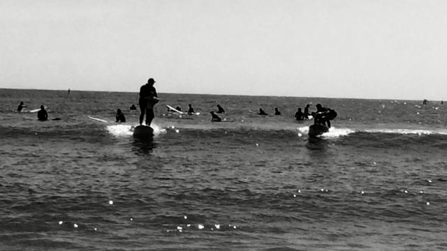 Kids having fun at First Point, Malibu Surfrider Beach Photo by Paula Lauren Gibson/AfroPix