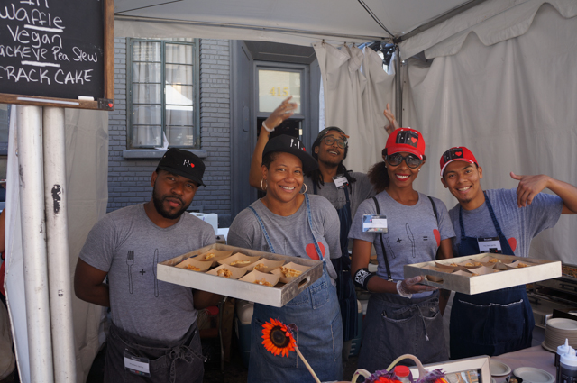 My two cents' crew with Chef Alisa Reynolds (second from left)