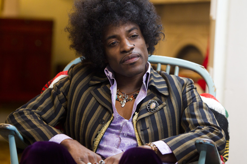 "André Benjamin as Jimi Hendrix in the drama/biopic ""JIMI: ALL IS BY MY SIDE"" an XLrator Media release.  Photo credit: Patrick Redmond."