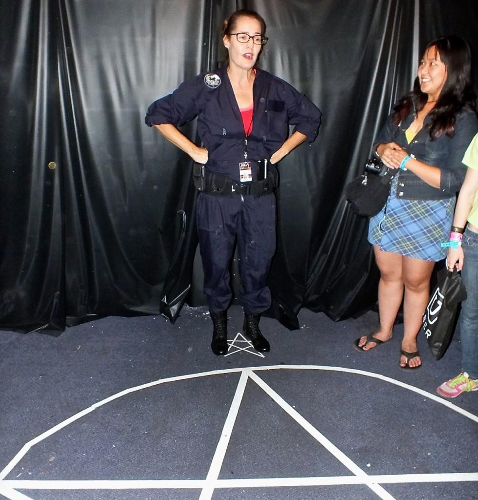 Alexa summoning spirits on Encounter Tour. Photo by Edward Simon for The Los Angeles Beat.