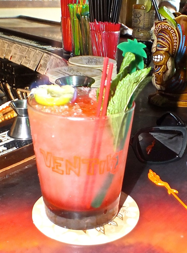 Scorpion cocktail. Photo by Edward simon for The Los Angeles Beat.