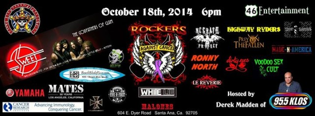 ROCKERS AGAINST CANCER OCTOBER 18 POSTER