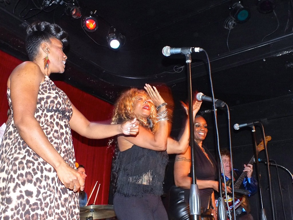 """The Smokettes and 'Fuzzy"""" Knight on stage."""