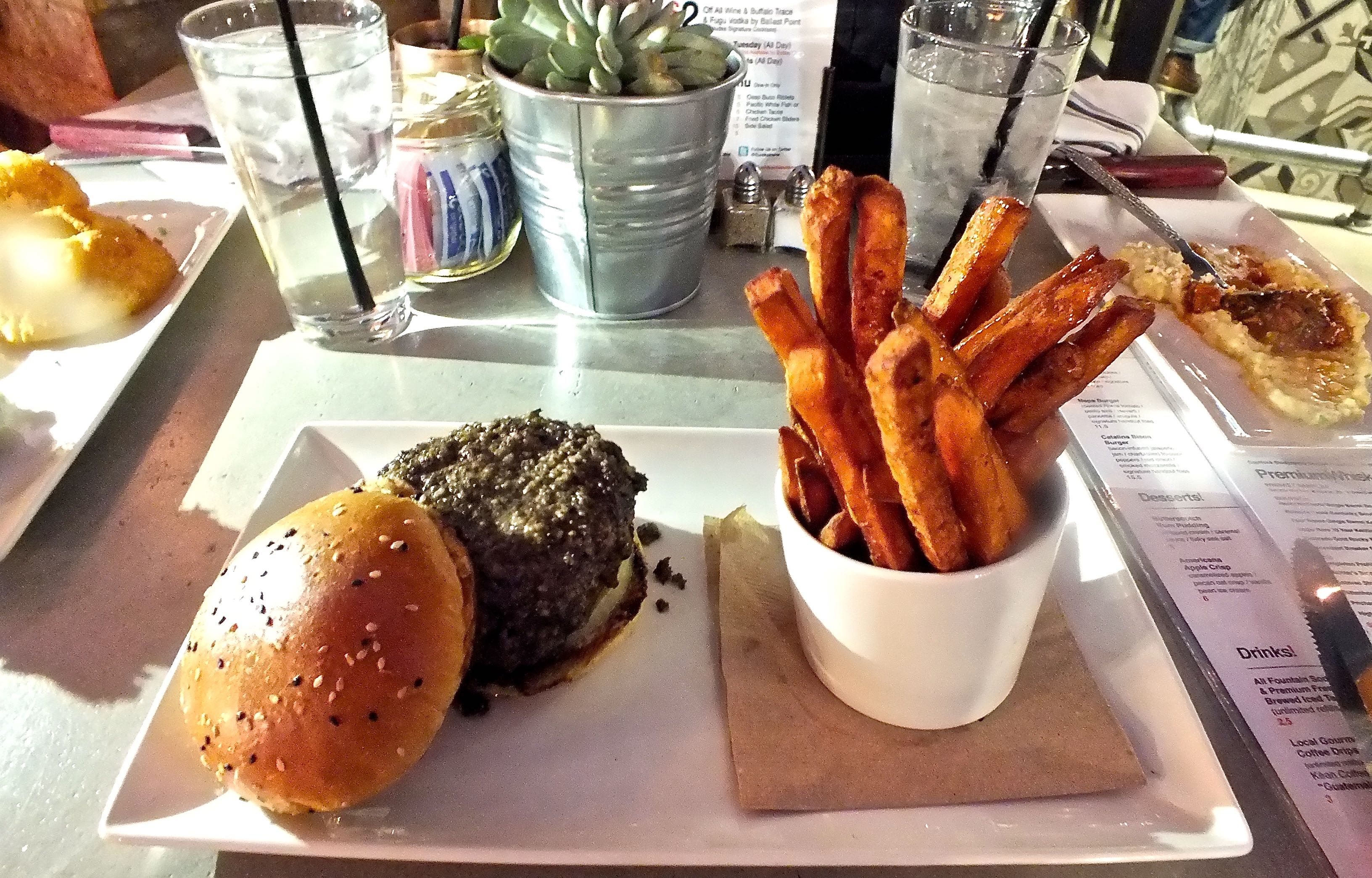 Platter with Bone Marrow Burger