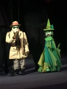 Two Bob Baker created puppets - The invisible Man and a Witch (photo by Nikki Kreuzer)