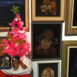 A Very Tiki Christmas exhibit at Velveteria, the Museum of Velvet Paintings (photos by Judy Ornelas Sisneros)