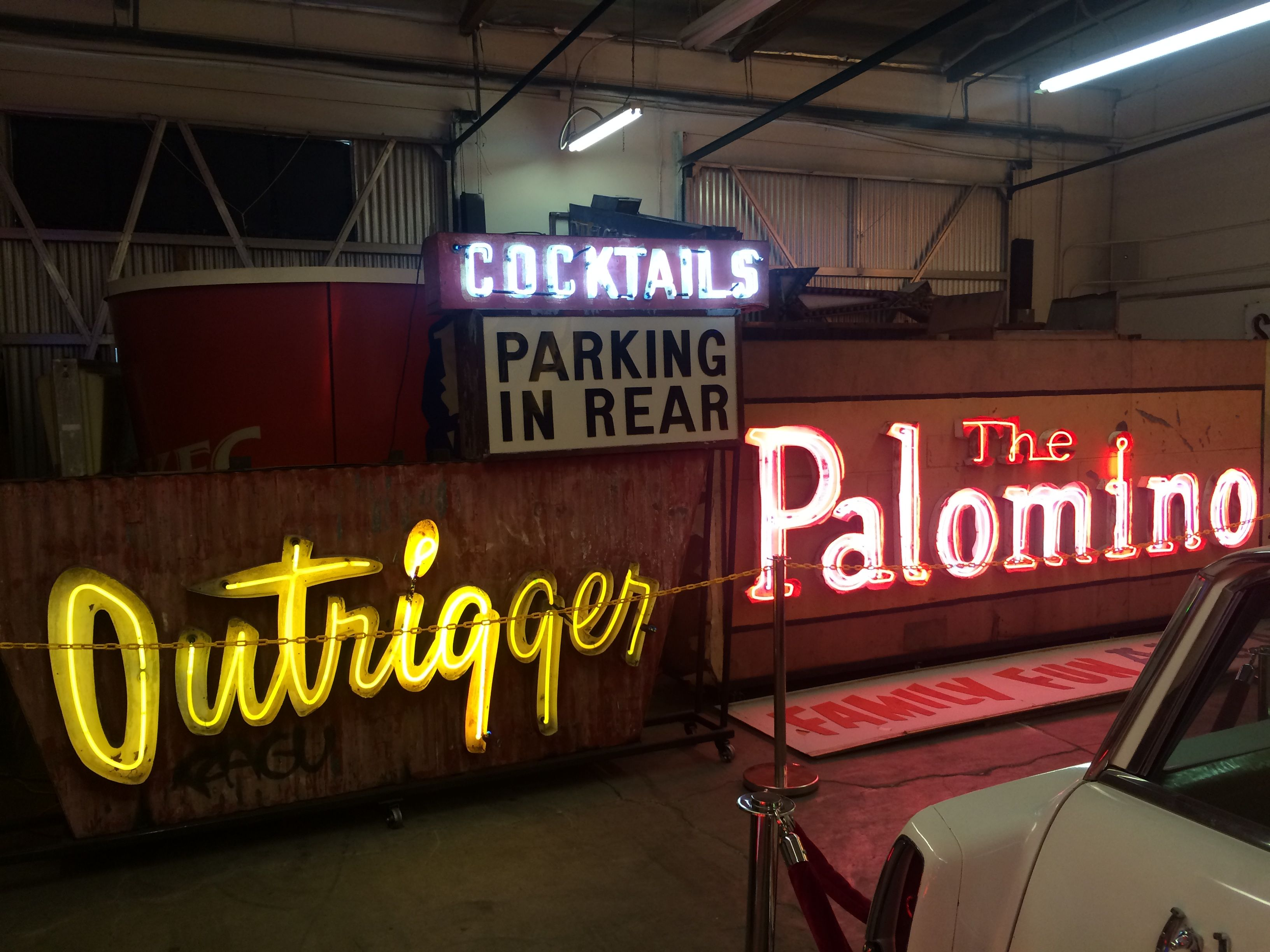 Beloved neon signs from years gone by at The Valley Relics Museum (photo by Nikki Kreuzer)