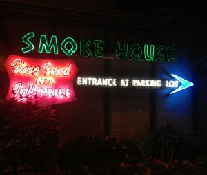 The Smoke House restaurant in Burbank, where Jimmy performs (photo by Nikki Kreuzer)