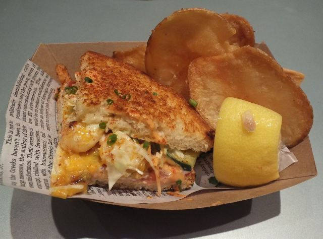 Clobster Grilled cheese