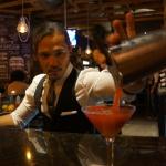 Edwin Mills Jason Yu pouring a Strawberry Martini